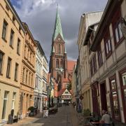 Schwerin Altstadt mit dem Schweriner Dom