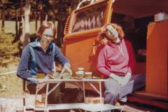 Mit unserem VW-Bus im Harz - Etwa 1980