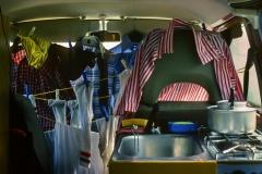 Wenn das Wetter schlecht war, musste die Wäsche halt im Auto trocknen.