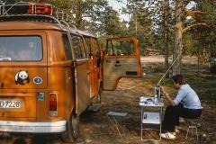 """Unser erstes """"Wohnmobil"""" war ein selbst ausgebauter VW Bus T2"""