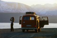 Unser T2 am Lyngenfjord in Norwegen
