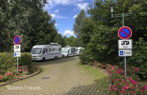 Mirow, Wohnmobilstellplatz am Schlossparkplatz