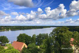 Mirow, Blick von der Mirower Kirche auf die Mecklenburgische Seenplatte