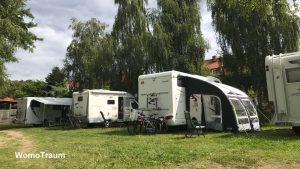 Mirow, Campingplatz und Wohnmobilstellplatz am Strandhotel am Mirower See