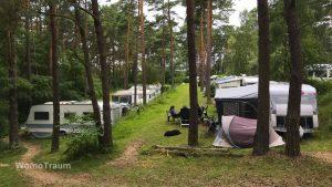 Campingplatz am Weißen See bei Wesenberg in Mecklenburg-Vorpommern