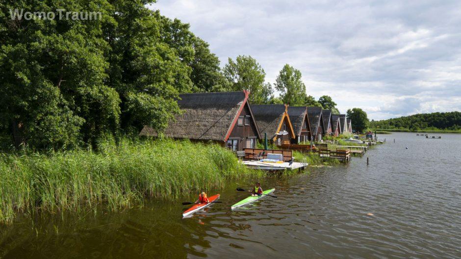 Mirow, Paddeltour in der Nähe von Mirow in Mecklenburg-Vorpommern